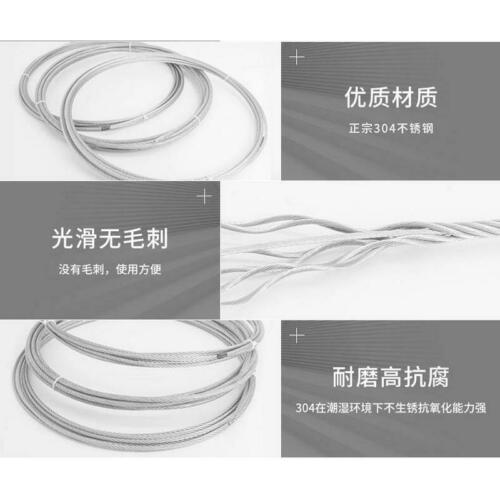 WM SOFT SS304 stainless steel wire rope cable 1X19 1.2-5MM and 7x19 1.5-20MM Dia