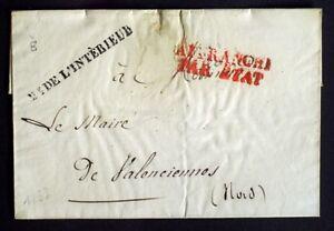 1833-France-lettre-Franchise-Me-DE-L-039-INTERIEUR-en-Noir-Sup-AA38