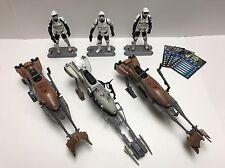 Star Wars Speeder Bike With Biker Scout Trooper Lot