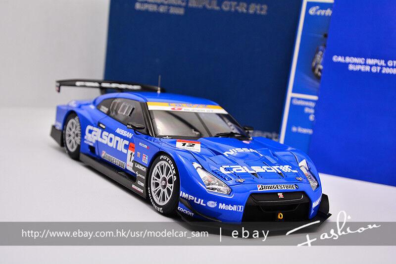 Autoart 1 18 NISSAN GT-R Super GT Calsonic Impul 2008  12 Bleu
