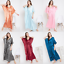 miniature 1 - Women Plus Size Kaftan Satin Caftan Long Maxi Dress Kimono Sleeve Evening Gown