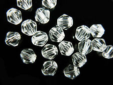 Bulk 50pcs Clear Glass Crystal Faceted Bicone Beads 8mm Spacer Jewelry Findings