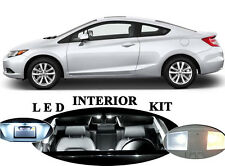 White LED Package - Interior + License + Reverse for Honda Civic Coupe 11 Pcs