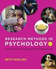 Research Methods In Psychology Evaluating A World of Information: Research Meth…