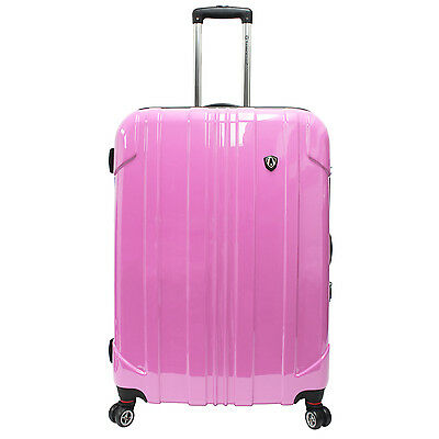 "Traveler's Choice 29"" Pink Sedona Pure Polycarbonate Spinner Luggage Travel Bag"