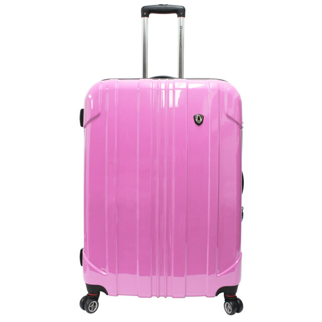 """Traveler's Choice 29"""" Pink Sedona Pure Polycarbonate Spinner Luggage Travel Bag"""