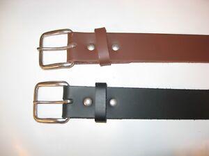 Work-Belt-1-1-2-034-Wide-Heavy-Duty-Leather-Belt-or-Gun-Belt