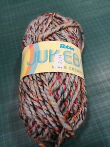 Katia Velour Print 75 Yellow Brown Blue Pink Chunky Yarn 100g