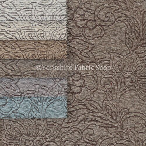 Designer New Floral Nature Pattern Black Colour Soft Chenille Upholstery Fabric