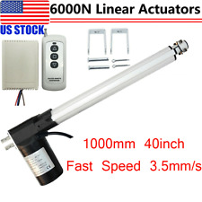 Dc 12v Linear Actuator 1320lbs Remote Controller Motor 6000n Lift 1000mm 40inch