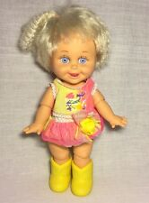 """14"""" Vintage 90s Galoob Baby Face So Delightful Dee Dee Doll With Clothes Jointed"""