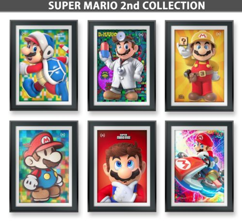 7.5x11in 6 SUPER MARIO BROS Poster Lamination /& FoamBoard Backing