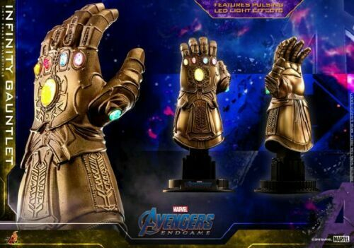 Hot Toys ACS007 1 4  Infinity Gauntlet 7  Avengers Endgame LED Light Figure