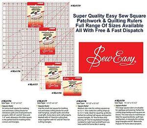 Sew-Easy-Quilters-Regla-Cuadrada-Medida-Patchwork-Craft-home-todos-los-tamanos-y-estilos