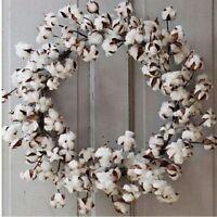 Cotton Boll Wreath26southern Farmhouse Decor
