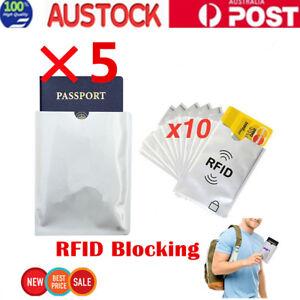 10Pcs-Anti-RFID-Credit-Card-Protector-Sleeve-and-5Pcs-Passport-Sleeve-AU