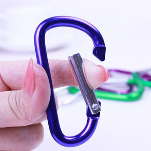 5X Aluminum Key Chain Clip Carabiner D-Ring Camping Keyring Snap Hook Karabiner