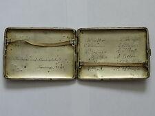 WWII German LUFTWAFFE CIGARETTE 835 Sterling SILVER Case Solid GOLD MONOGRAM #6