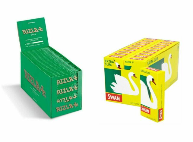 swan 1000 Swan Green Rolling Papers 20 Packs Of 50 Papers! Bargain Price