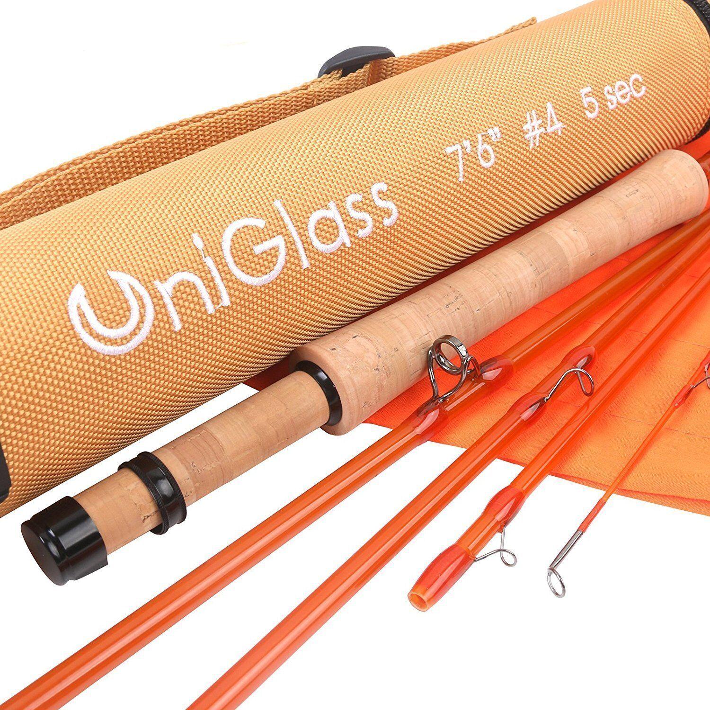 Maxcatch UniGlass 3/4/5 wt 7/8 FT Fliegenfischen Ruten Glasfaser Angelrute