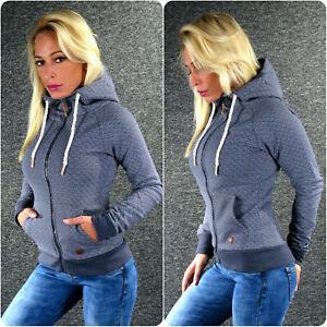 Details zu HAILYS Sweatjacke LISA Grau XS S M L XL XXL Kapuzenjacke Hoodie Sweat Jacke