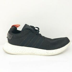 Adidas Mens NMD R2 CG3384 Core Black Running Shoes Lace Up Low Top Size 10.5