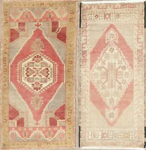 Muted-Oushak-Oriental-Geometric-Wool-Area-Rug-Hand-Knotted-Turkish-Carpet-2-x-3
