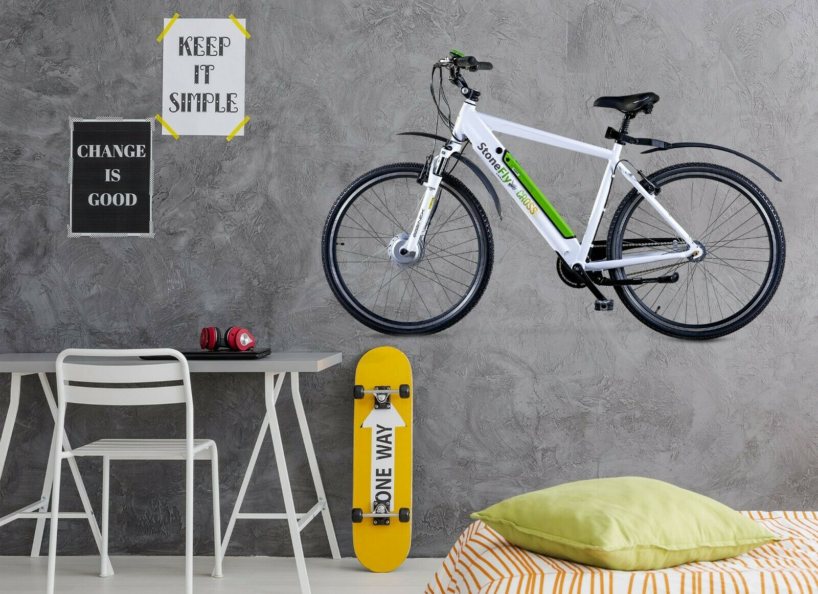3D Mountain Bike P14 Car Wallpaper Mural Poster Transport Wall Stickers Zoe