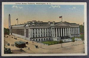 Washington-DC-Postcard-1917-Treasury-Building