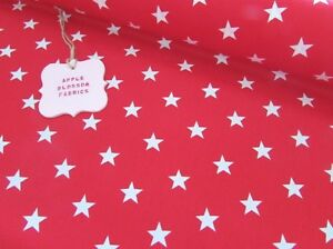 White Stars on Red 100 Cotton Star Fabric FAT QUARTER HALF METRE METRE - Hellifield, North Yorkshire, United Kingdom - Can only accept returns of uncut and unmarked fabric/ribbon and original postage cost will not be refunded Most purchases from business sellers are protected by the Consumer Contract Regulations 2013 which giv - Hellifield, North Yorkshire, United Kingdom