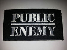 PUNK ROCK METAL MUSIC SEW ON / IRON ON PATCH:- PUBLIC ENEMY (a) BLACK STRIPE