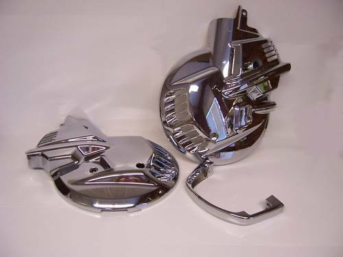 ADD-ON 15673-176B CHROME FRONT ROTOR COVERS GL1500 GOLDWING 1988-2000