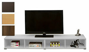 Schmal Wide Tv Unit Entertainment Console Games Stand Furniture