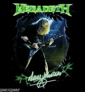 MEGADETH-cd-lgo-DAVE-MUSTAINE-PHOTO-Official-SHIRT-LRG-new