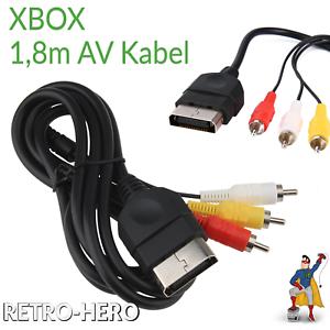 XBOX-Classic-AV-Kabel-TV-Verbindungskabel-3-RCA-Audio-Video-Chinch-Videokabel
