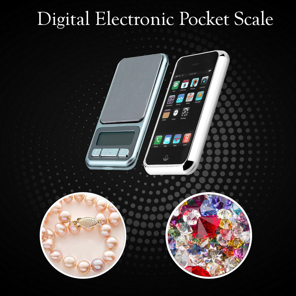 0.1g to 500g Electronic Pocket Digital LCD Weighing Scales Jewelry Kitchen