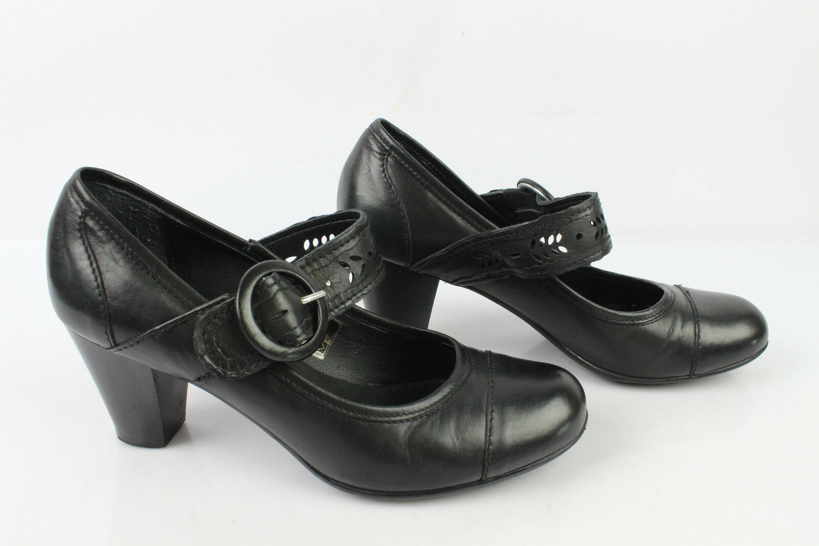 Court shoes flanged ANDRE Soles Freeflex Black Leather T 38 VERY GOOD CONDITION