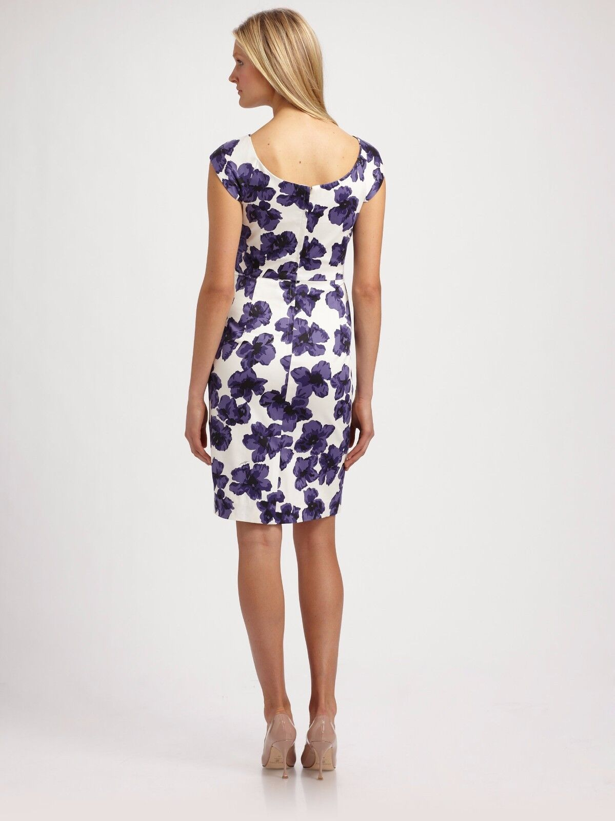 Milly Cattrina Cattrina Cattrina Purple and White Hydrangea Print Dress Size 4, NEW WITH TAGS cc95f5