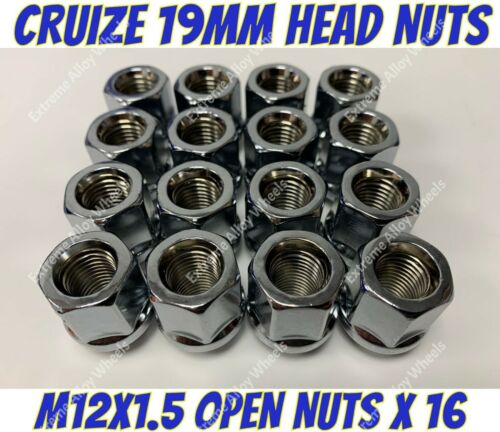 Aleación Tuercas de Rueda abierta X 16 M12x1.5 Ford activa B Max bantum Capri Cortina