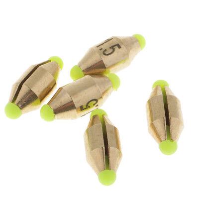 5pcs Brass Fishing Sinker Weight// Drop Shot Weight for Perch Pike Fishing