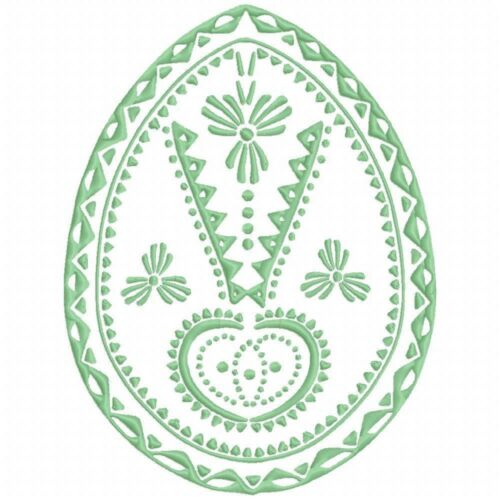 Decorative Eggs 10 Machine Embroidery Designs on multi format CD in 4 sizes