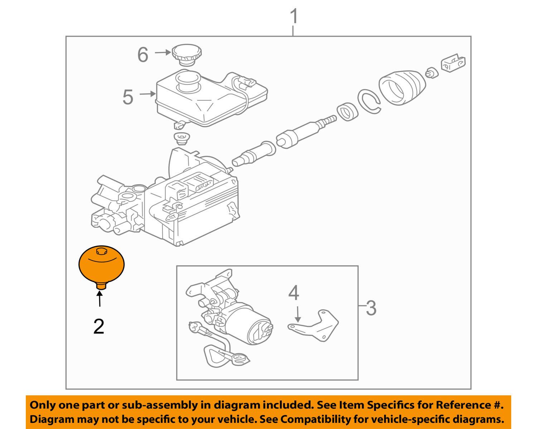 MITSUBISHI OEM 01-02 Montero Hydraulic-Accumulator 4630A011