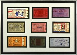 1949-1960-Baseball-All-Star-Game-Ticket-Stub-Collection-Framed-Jackie-Robinson