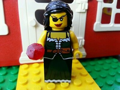 LEGO Minifig Female Pirate Jewel Wench Castle Wizard Joust Dragon Hair POTC NEW