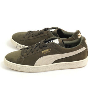 huge discount 07bc7 9f7da Details about Puma Suede Classic + Olive Night-Birch Sportstyle Lifestyle  Sneakers 363242 27