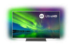 PHILIPS-50pus7504-50-034-pollici-126-cm-4k-UHD-SMART-TV-LED-WIFI-Ambilight-GRIGIO