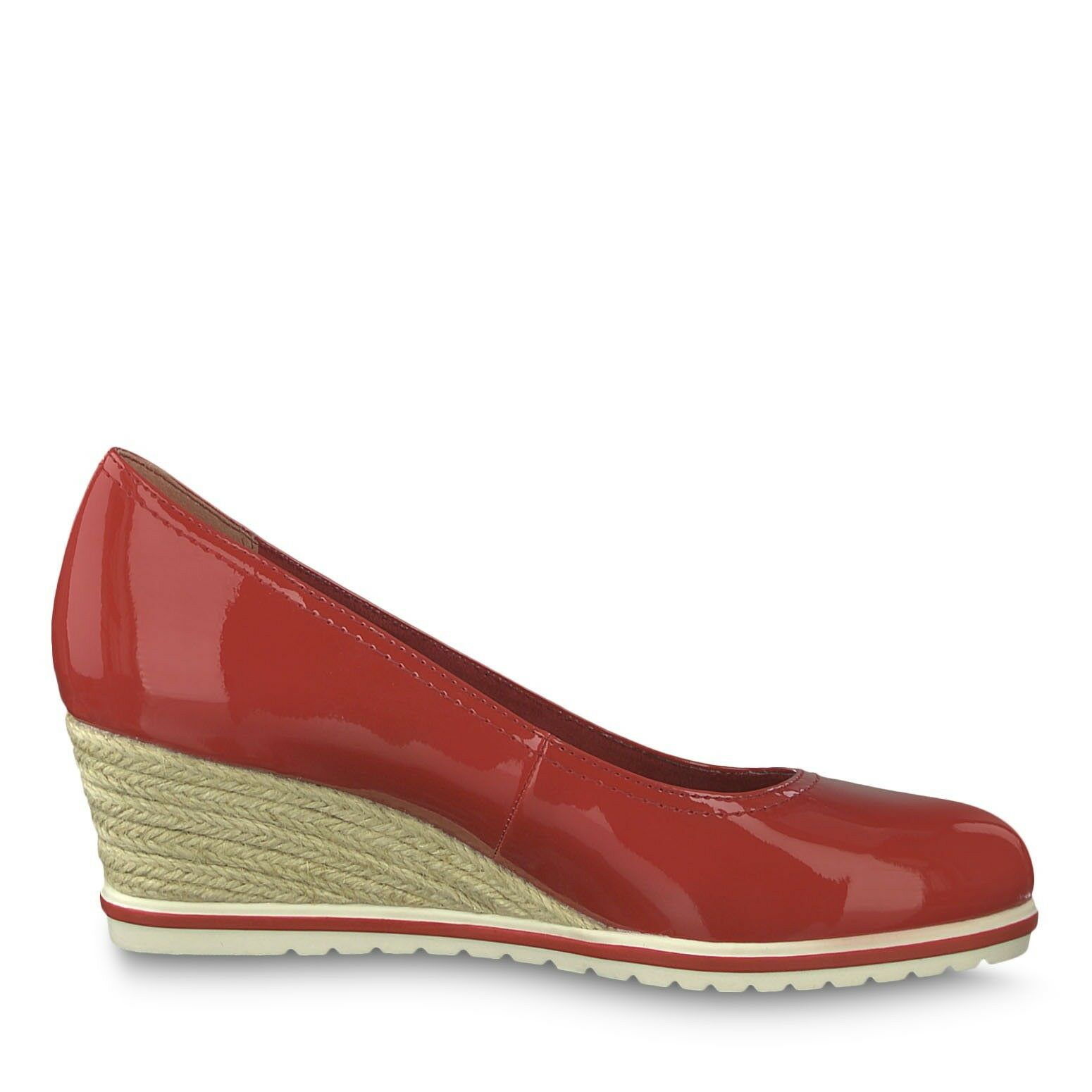 Tamaris 22441 Patent Espadrille Wedge shoes With With With Touch It Insoles Red Or Navy 627217