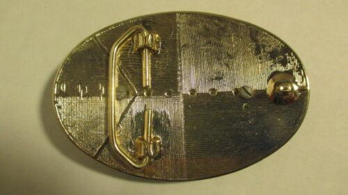 Vintage new old stock Gold /& black LRG oval Belt Buckle oval SHRINER emblem blk
