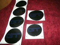2005 2006 07 2008 2009 Ford Mustang Gt Steering Wheel Body Rim Decals Lot Blue