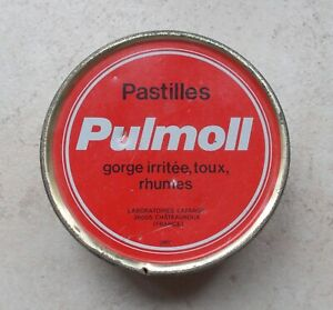 Boite-Ancienne-Tole-Metal-Pastilles-Pulmoll-Pharmacie-Collection-Tin-Box-4